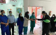 دیدار خادمیاران رضوی منطقه ۱۰ با مدافعین سلامت و پرستاران بیمارستان شهدای آزادی